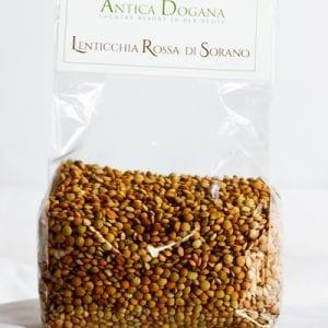 vendita legumi online, prodotti tipici toscana Lenticchia Rossa di Sorano, confezione da 300 gr