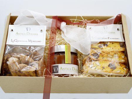 Cesto Regalo Marmellate e Biscotti fatti in casa, Prodotti Toscani